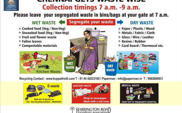 Campaign To Segregate Waste In Chetpet Soon The Hindu