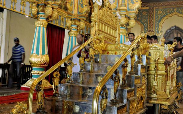 Golden Throne Readied In Mysore For Dasara The Hindu