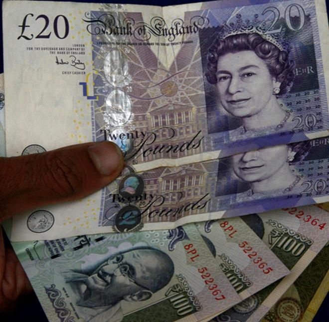 The Ru Hit A New Low Of Rs 100 35 Against British Pound Gbp