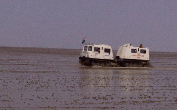In rann of kutch bsf rides high on unique vehicles the for High style motoring atv