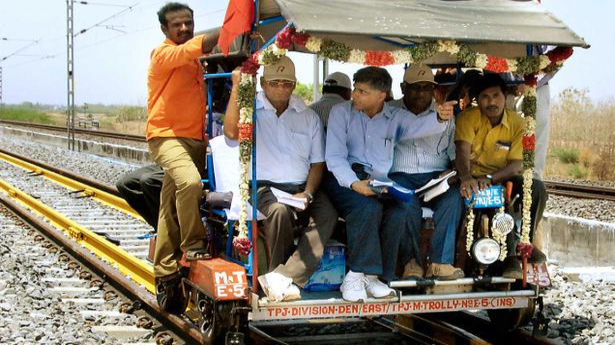 Crs Inspects Valladi Palanganatham Line Tamil Nadu The