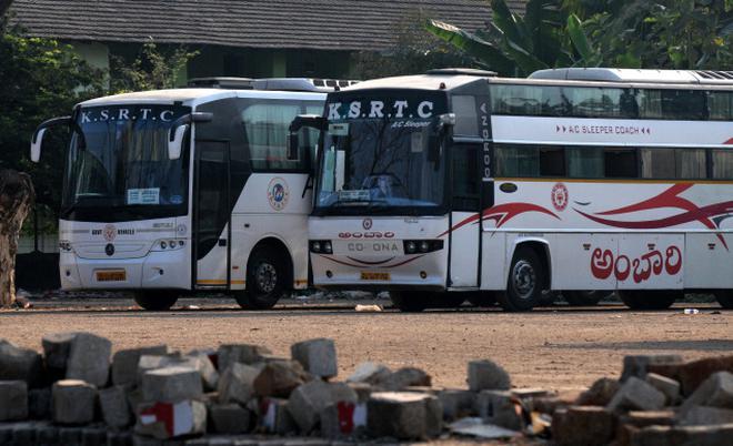 KSRTC misses the bus as Karnataka rakes in money - The Hindu