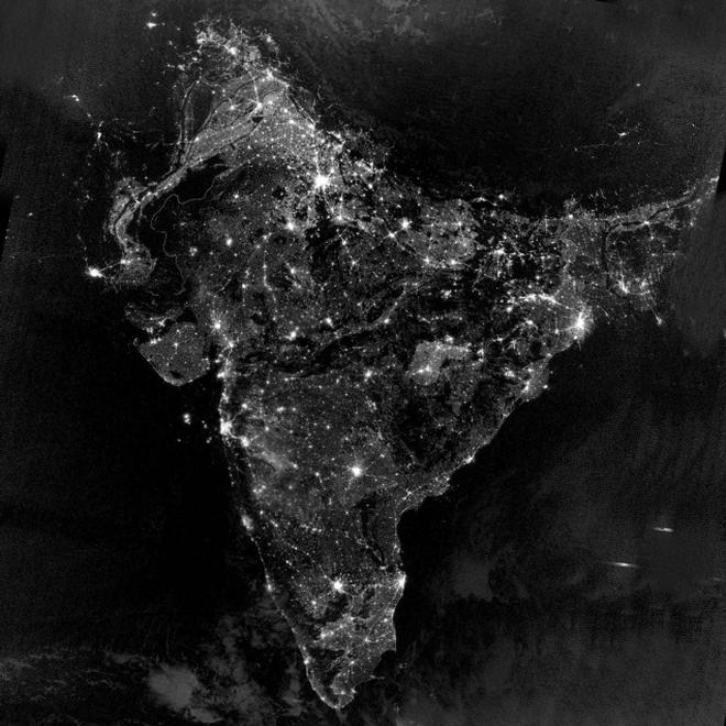 Nasa releases map of india on diwali night the hindu a satellite imagery of india on diwali night released by nasa sciox Choice Image