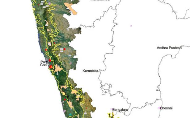 Western Ghats On Map Western Ghats makes it...