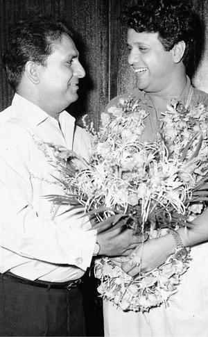 Yaad Na Jaye… A file picture of Shankar greeting Jaikishan on his birthday