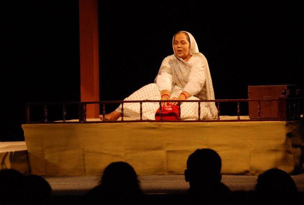 Rohini Hattangadi in the monologue Jagdamba