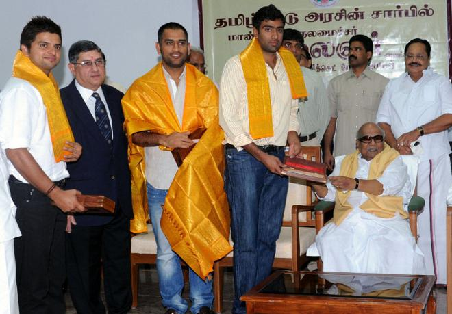 Image result for karunanidhi and cricket