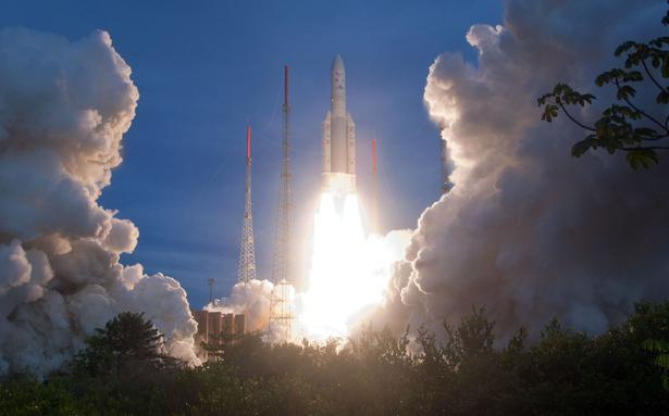 Ariane 5 launches GSAT-8 from French Guiana - The Hindu