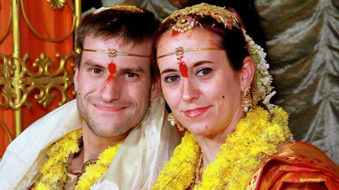 Tobias Scharinger And Sabine Szakacs Of Germany Who Got Married In Hyderabad Recently Photo