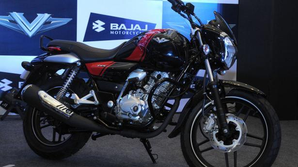 Bajaj Unveils Bike With Ins Vikrant Metal The Hindu