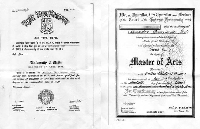 Narendra Modi\'s degree \'authentic\': Delhi University Registrar Tarun ...