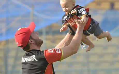 Image result for ab de villiers with his children