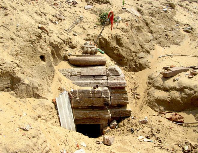 Parvati temple found buried in Odisha sand