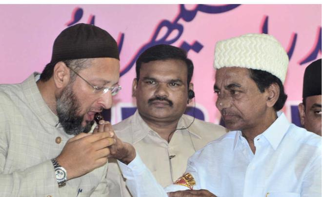 Image result for kcr owaisi