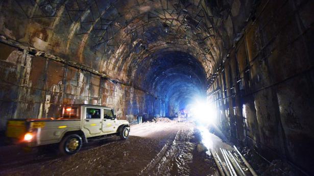kaleshwaram project tunnel work makes brisk progress