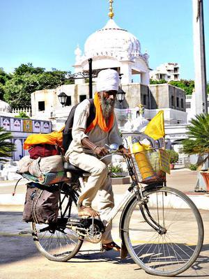 Amandeep Singh at the Gurudwara in Bidar recently.