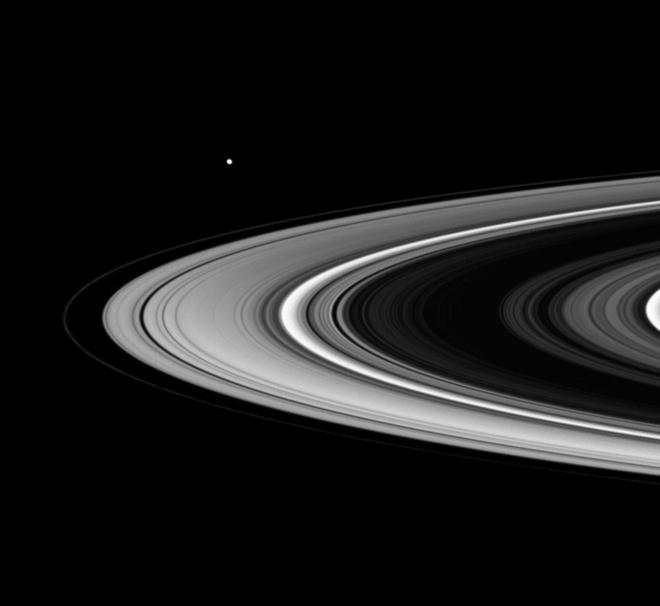 Saturn without rings the hindu saturns rings are seen during a ring plane crossing by the cassini spacecraft file photo fandeluxe Choice Image