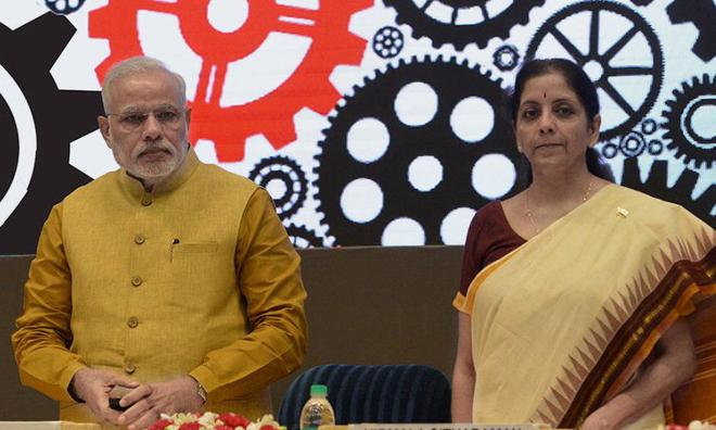 Image result for <a class='inner-topic-link' href='/search/topic?searchType=search&searchTerm=MODI' target='_blank' title='click here to read more about MODI'></div>modi</a> with Nirmala sitharaman