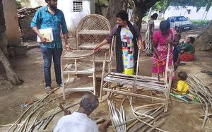 Tribal people get certified in making furniture from invasive weed