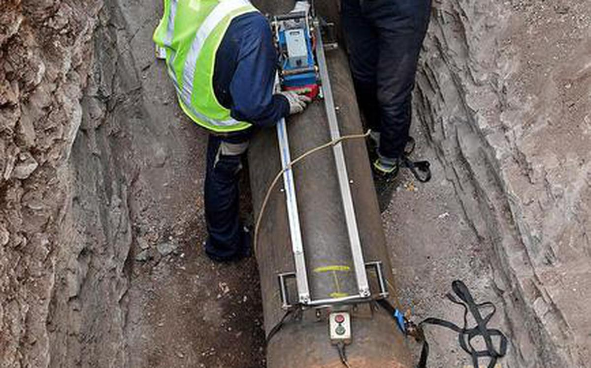 Suez demonstrates technology to test quality of water pipelines
