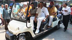 Free golf cart service at Karol Bagh market