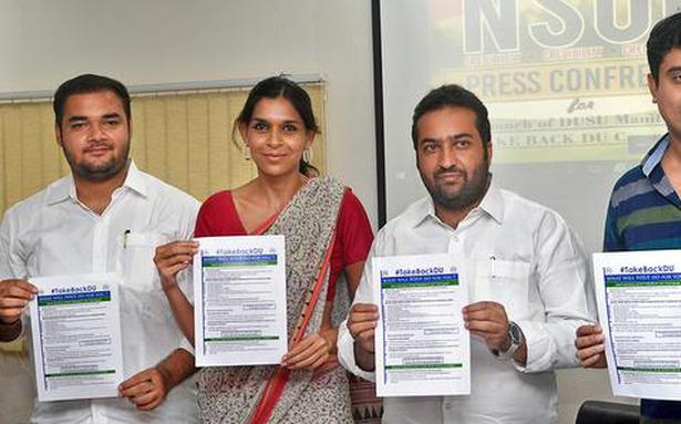 Focus on safe campus in NSUI manifesto for DUSU elections