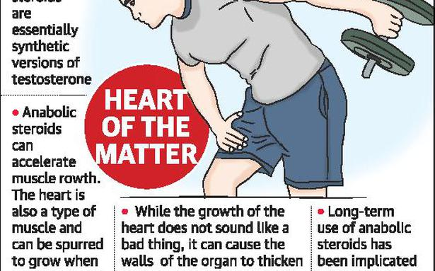 Steroid abuse can weaken heart: doctors