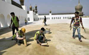 Archaeology dept. puts its all into restoring Mecca Masjid