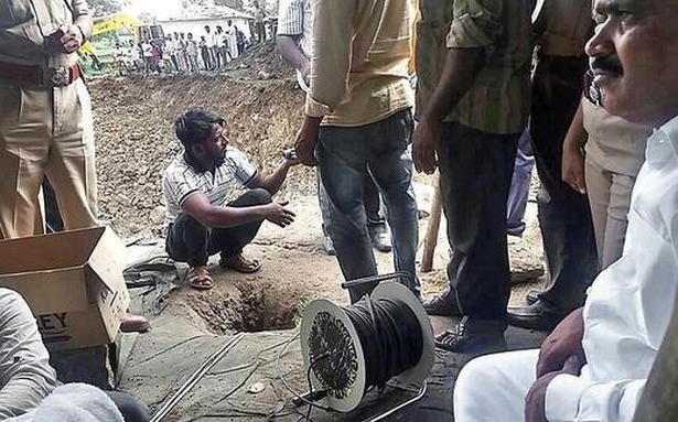 Image result for 72 hours after rescue operations began, toddler stuck in borewell pulled out dead,