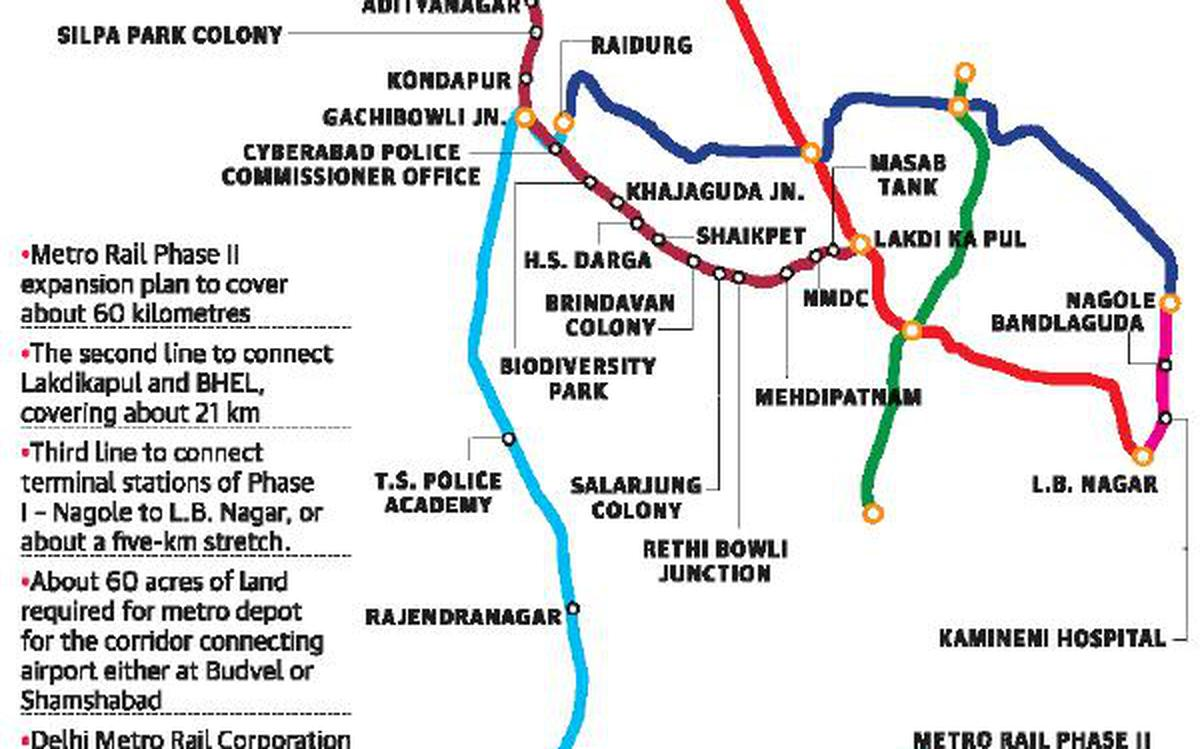 Metro line to RGIA under study - The Hindu