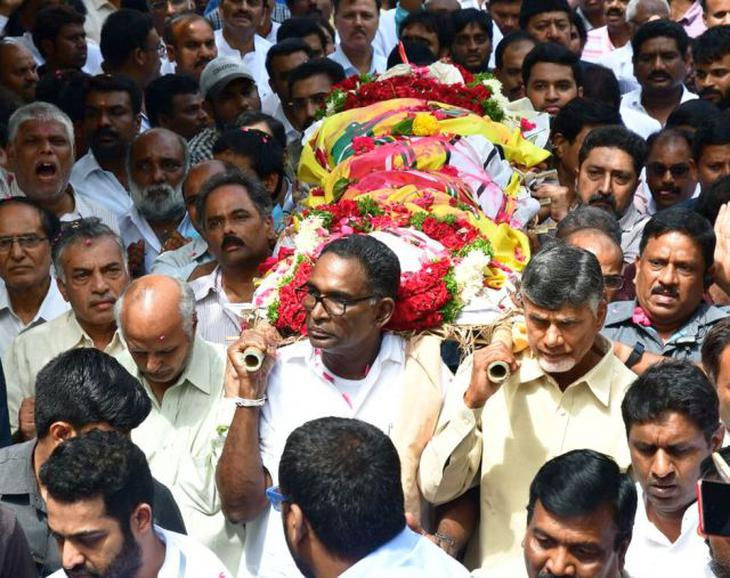 NT Ramaarao's Son funeral