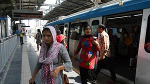 Low footfall at metro rail station on inaugural day