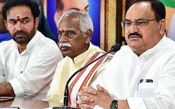 TRS has failed the mandate given to it, says J.P. Nadda