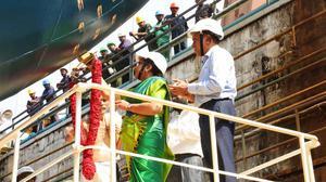 Passenger-cargo vessel launched