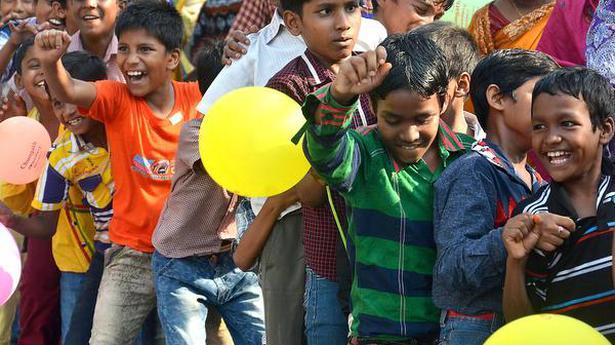 Migrant children enter portals of learning