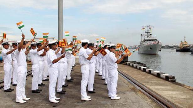 Sri Lankan Navy ships in Kochi