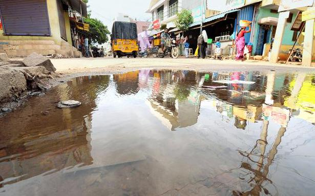 Sewage flows freely on these streets with stench