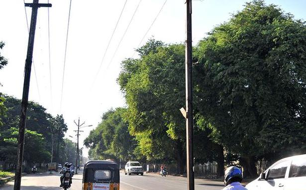 Poles on middle of road pose a threat
