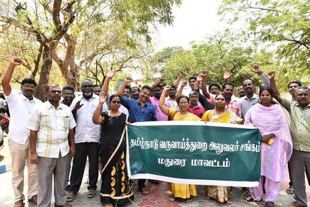 Tahsildars protest mass transfer out of district - The Hindu