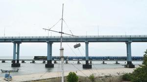 Train services resume on Pamban bridge