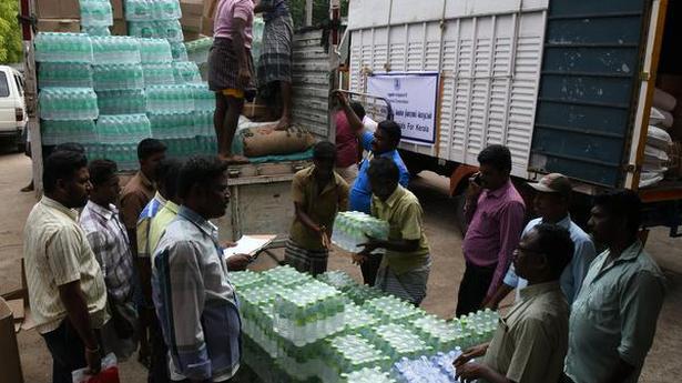 Madurai Corporation despatches relief materials