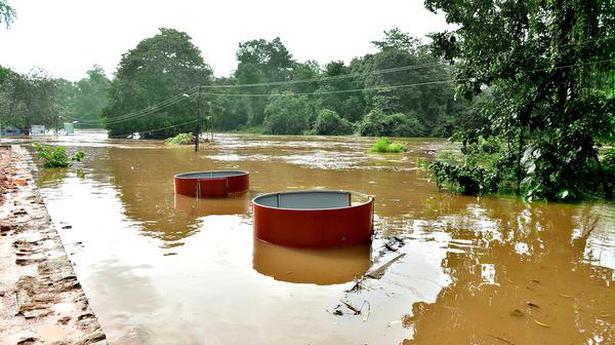 Puttur-Kukke Subrahmanya Roadunder water near temple town