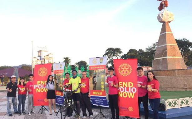 Shameem pedals 2,200 km in Malaysia to end polio