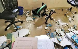 Man injured as plaster falls from ceiling of Revenue office