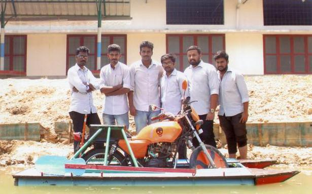 Students Develop Amphibian Motorcycle The Hindu