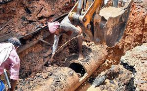 Pipe-burst: Supply to stabilise by today
