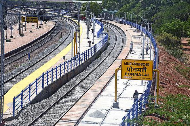 Image result for Ponmalai-Trichy railway bg line
