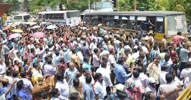 Image result for jacto geo protest in Kovai