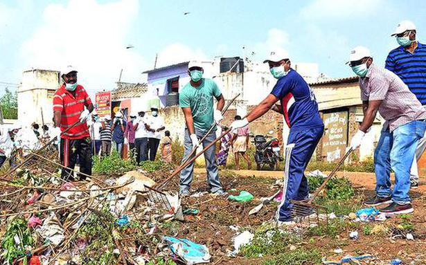 BHEL staff, families clean canal embankment