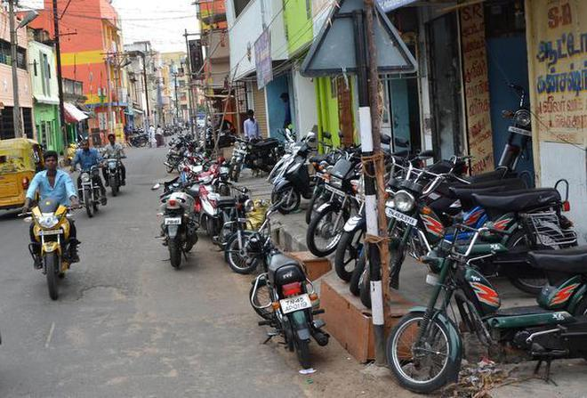 A view of Pattabiraman Pillai Street in Tiruchi